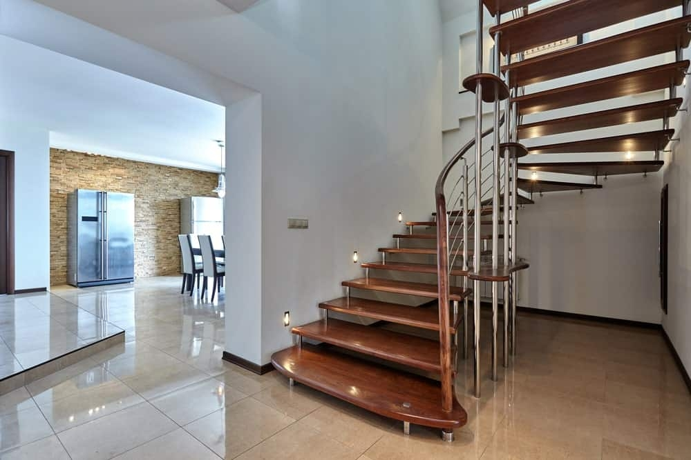 45 Half Turn Staircase Ideas Photos   Half Round Stairs Design   Grand Staircase   Wooden   Rounded   Railing   Beautiful