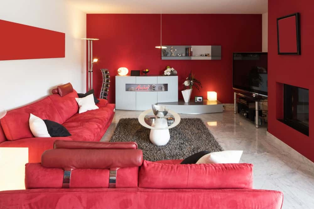 40 Red Living Room Ideas Photos Home Stratosphere