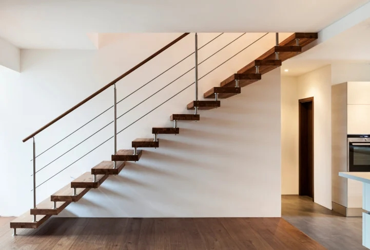 101 Staircase Design Ideas Photos | Hardwood Steps For Stairs | Modern White Oak Stair | Cover | Iron Baluster | Unfinished | Staircase