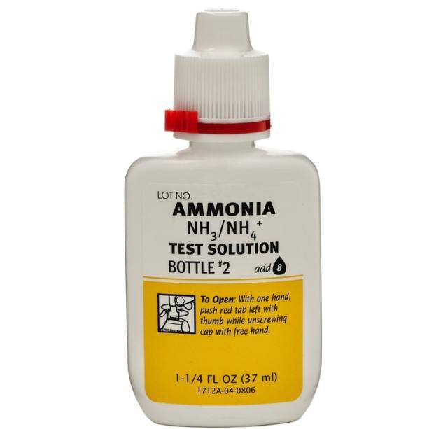 Bir şişe Amonyak'a yakından bakış.