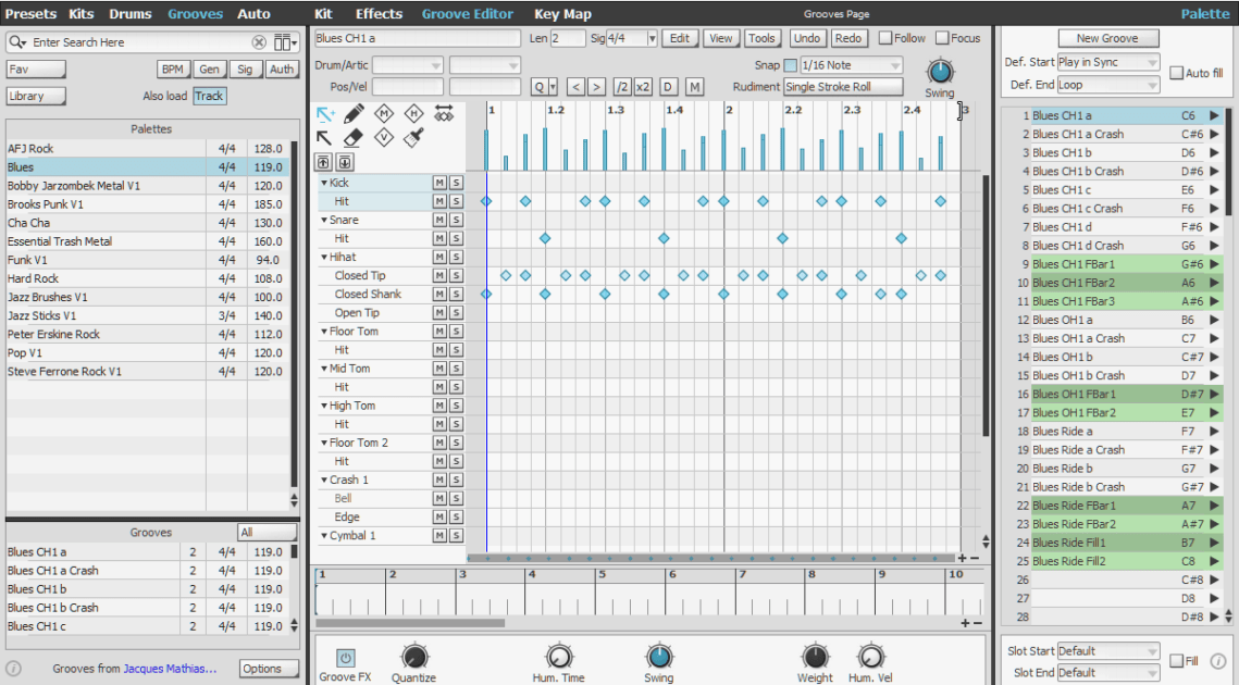 FXpansion BFD3 Review grooves and groove editor