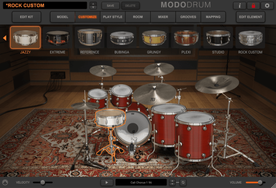 IK Multimedia MODO Drum Review - customize