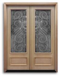 PreHung Oak Exterior Double Doors