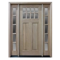 HTC50 Pre-hung 8 Lite Mahogany Exterior Door with 2 ...