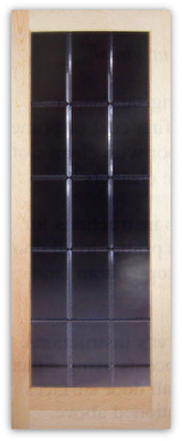ODESSA 15lite VGroove Bevel Cut Glass Door 32w x 80h