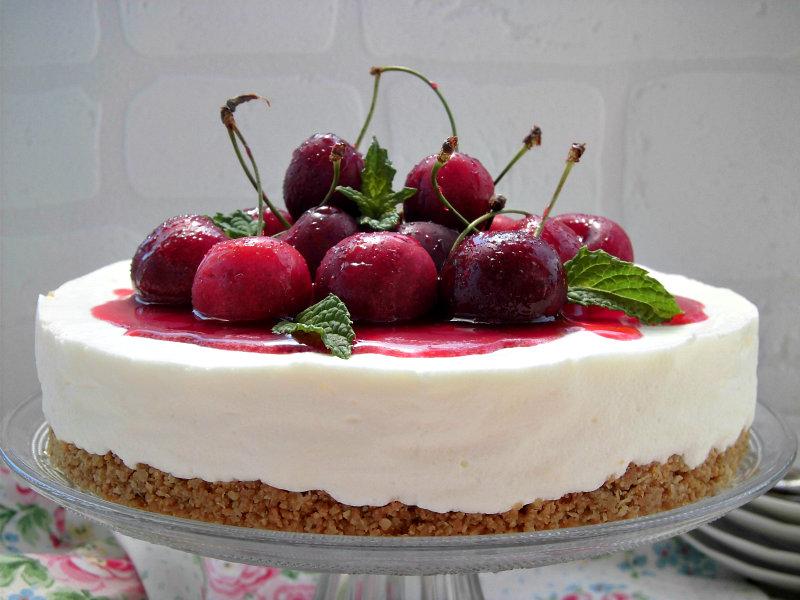 Cheesecake alle ciliegie, fresca e sfiziosa