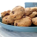 almond chocolate chip cookies con okara di mandorle