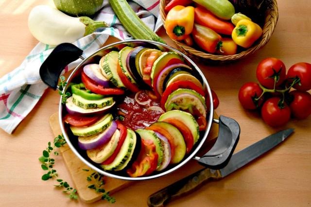 spirale di verdure in padella
