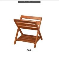 Folding Wooden Magazine Rack Storage