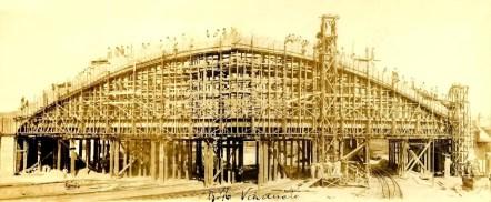 Construção de arcos do Viaduto Santa Tereza