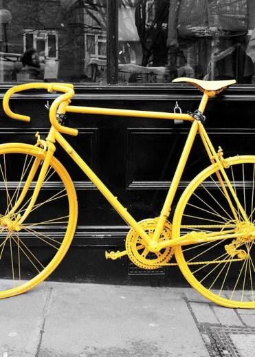 Poster Yellow Bike