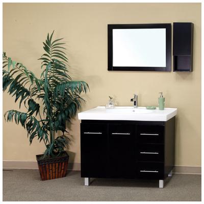 Best Deal Bellaterra Home 39 In Single Sink Solid Wood Bathroom Vanity Black Right Side Drawers 203129 B R