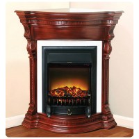 Polrey, 916-AM, , Electric Fireplace With Marble Top