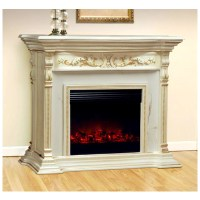 Polrey, 917-AM, , Electric Fireplace With Marble Top
