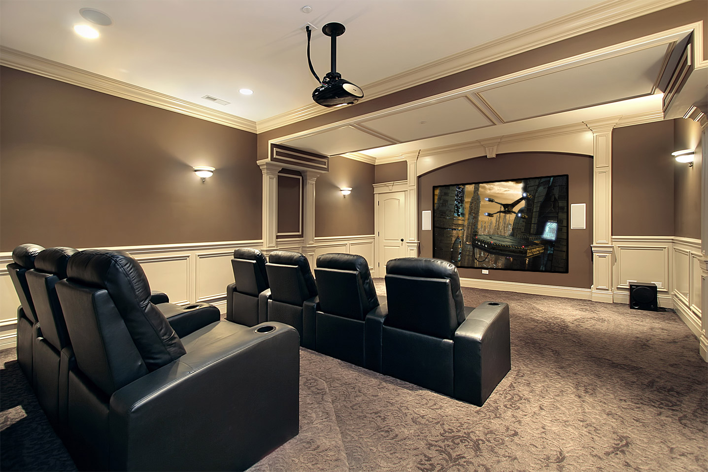 theatre room chairs parson chair slipcover home theater installation houston cinema installers