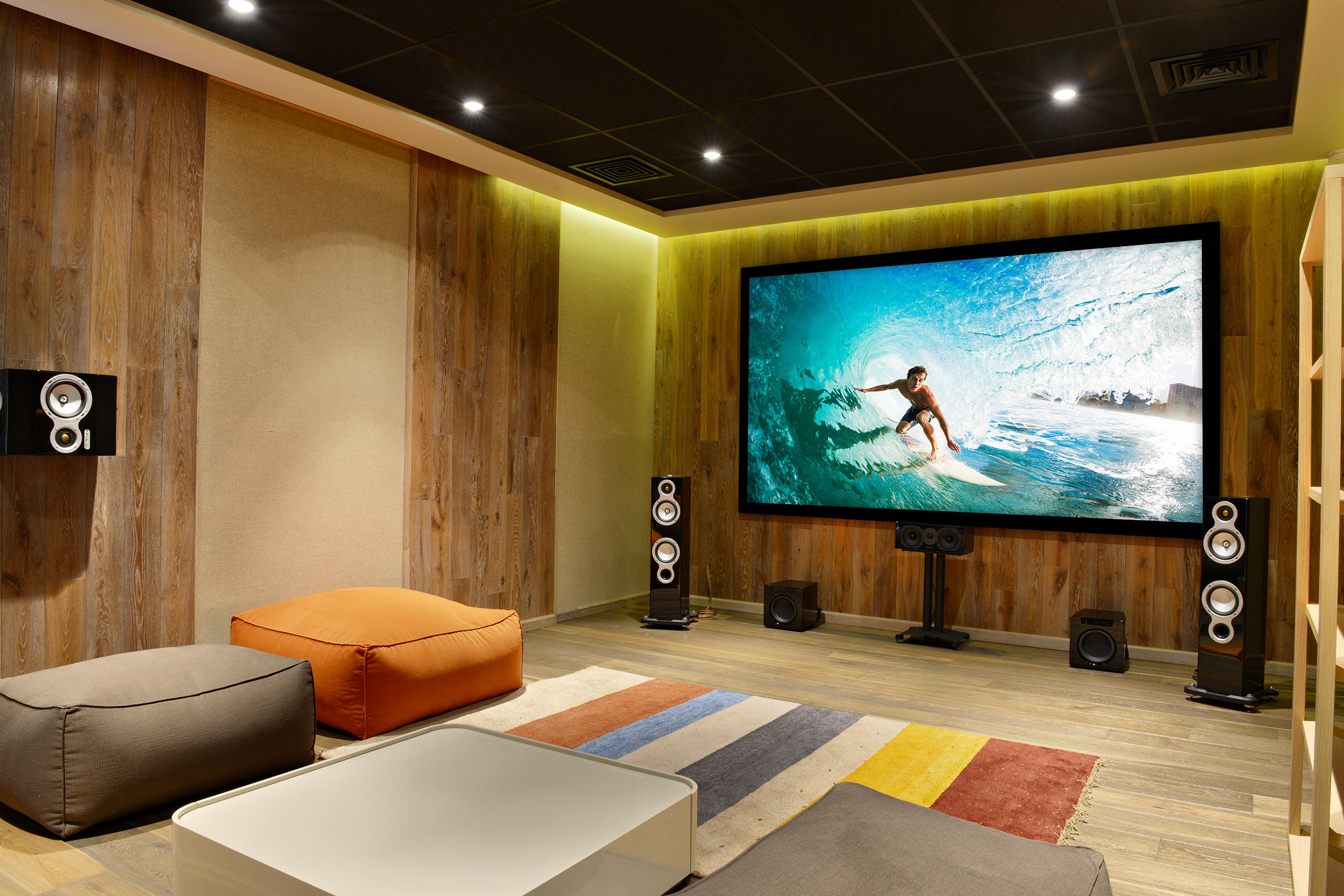 hight resolution of home theater room installation