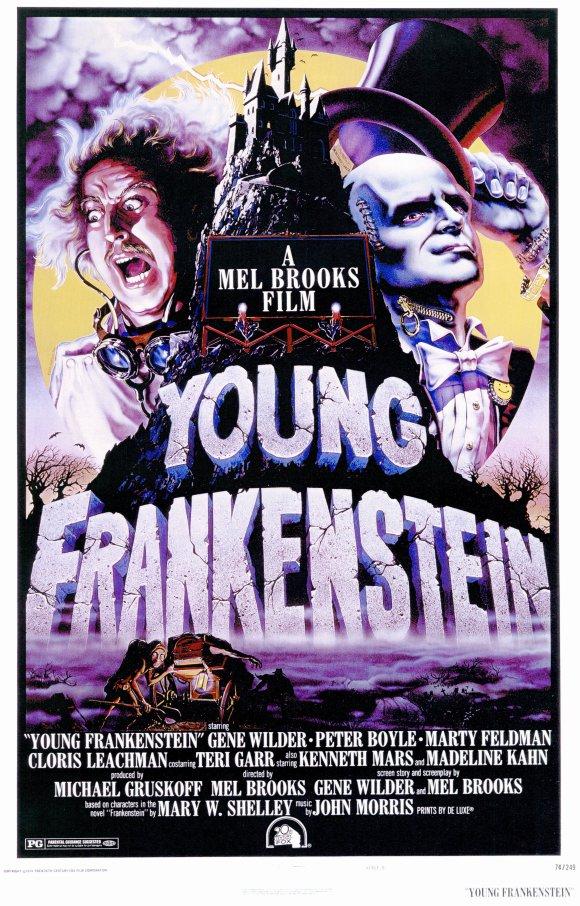 movie poster young frankenstein 1974