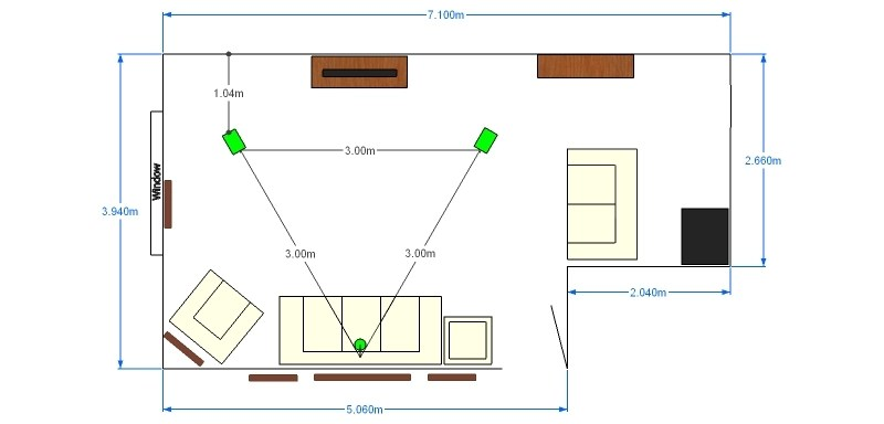 Help with treatment of L shaped room with plan  Home