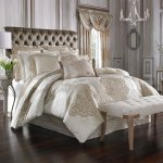 La Scala Gold Cal King 4 Piece Comforter Set