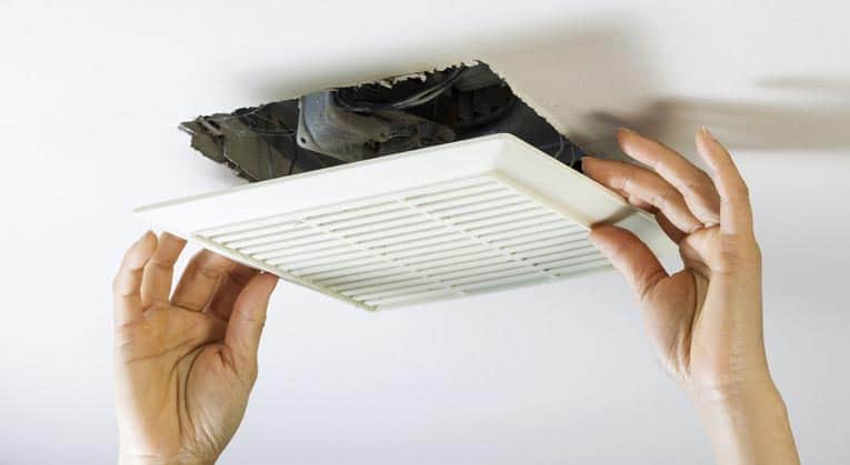 kitchen fan set how to repair a bathroom or yourself the workings of most fans are accessed by pulling down spring loaded cover