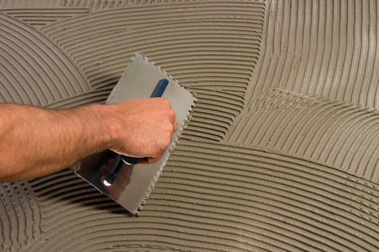 how to apply thinset mortar for tile