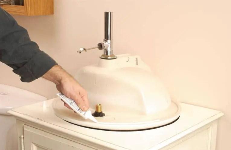 Install a Bathroom Countertop Sink