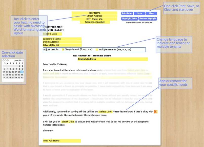 Letter to tenant breaking lease inviview letter for breaking a lease early to landlord spiritdancerdesigns Image collections