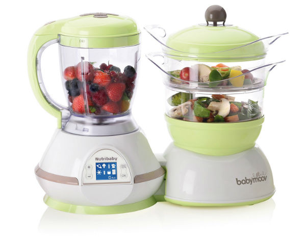 Babymoov Nutribaby Classic Multifunction Baby Food Processor - Steamer, Blender & Sterilizer