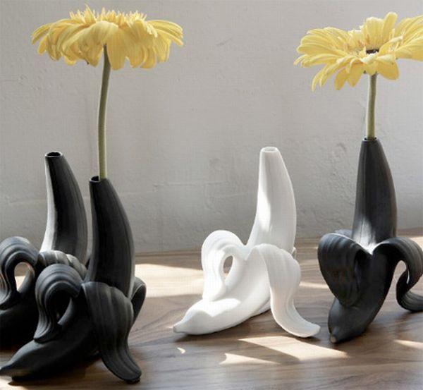 very attractive design flower vase. banana vase 10 Unusual yet creative flower designs  Dr Prem Life