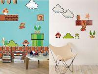 Show off your geeky fervor Super Mario Bros wall decals ...