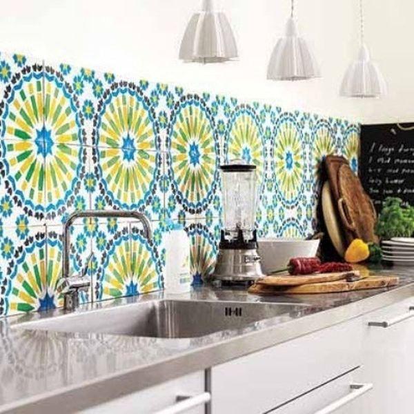 backsplash wallpaper. washable wallpaper for kitchen backsplash mi