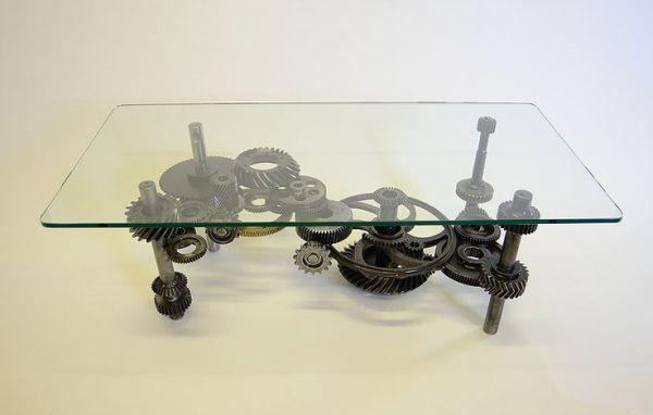 Industrial Gears, steampunk table