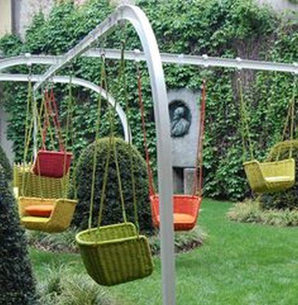 Swings backyard