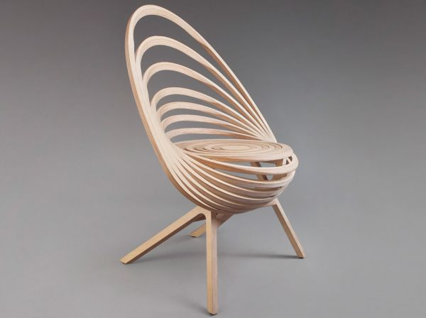 Spiral Wooden Chair (1)