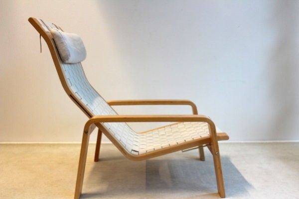 Pulka Plywood and Textile Relaxing Chair