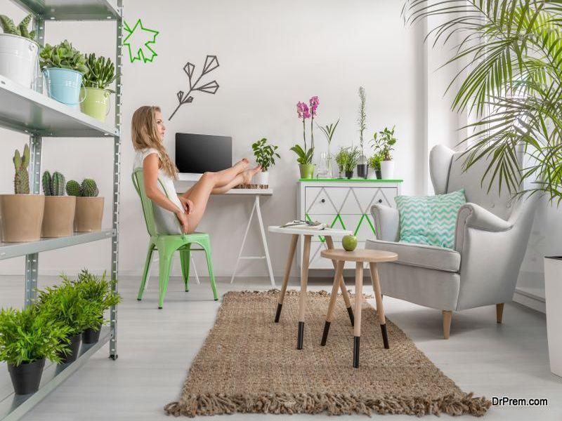 Add indoor plants