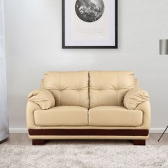 One And Half Seater Sofa Convertible Bunk Bed From Italian Pozzi Buy Gilbert Leather Two In Beige Colour By Hometown