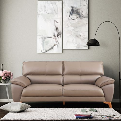 furniture design for living room affordable decor ideas buy best designs sets georgia half leather three seater sofa in brown colour by hometown
