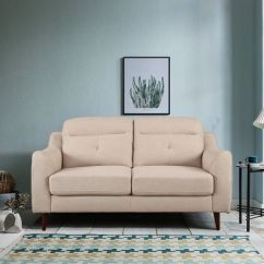 Sofa Set Below 3000 In Hyderabad How To Re Cover Cushions Buy Stylish Designs Online At Best Price Hometown Sheldon Fabric Two Seater Beige Colour By