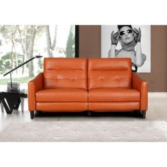 Sofa Materials Bangalore Small E Recliners Buy Recliner Chair Online Hometown Hilton Half Leather Three Seater In Tan Colour By