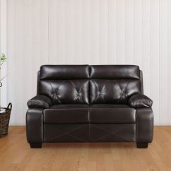 Black Leather Sofa Set Price In India How To Make Sleeper More Comfortable Buy Stylish Designs Online At Best Hometown Adrian Two Seater Brown Colour By