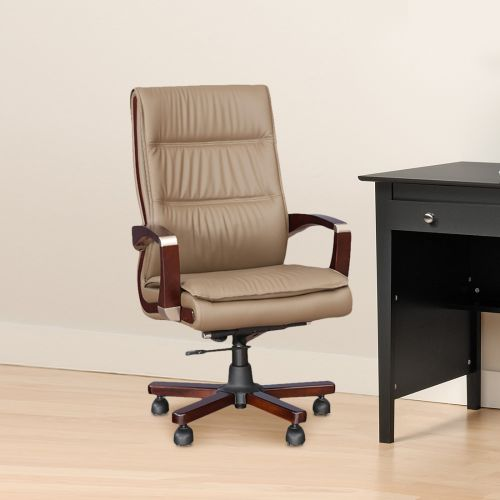 steel chair buyers in india wingback upholstery ideas office chairs buy executive online opal half leather high back beige colour by hometown
