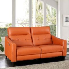 72 Lancaster Leather Sofa For Restaurant Recliners Buy Recliner Chair Online Hometown Hilton Half Two Seater In Tan Colour By