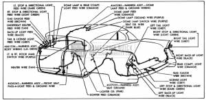 1955 Buick Body Wiring Circuit Diagram-Model 61-Style 4669