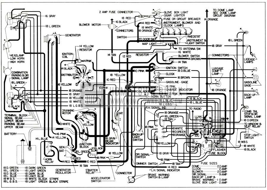 11 Impala Wiring Schematic 1956 Buick Electrical Systems Maintenance