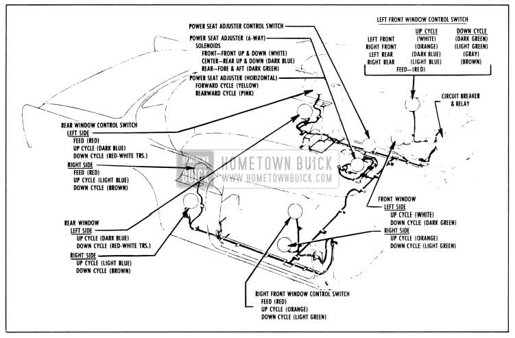 related with 1960 cadillac 6 way power seat wiring diagram