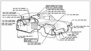1956 Buick Body Wiring Circuit Diagram-Model 48-Style 4411