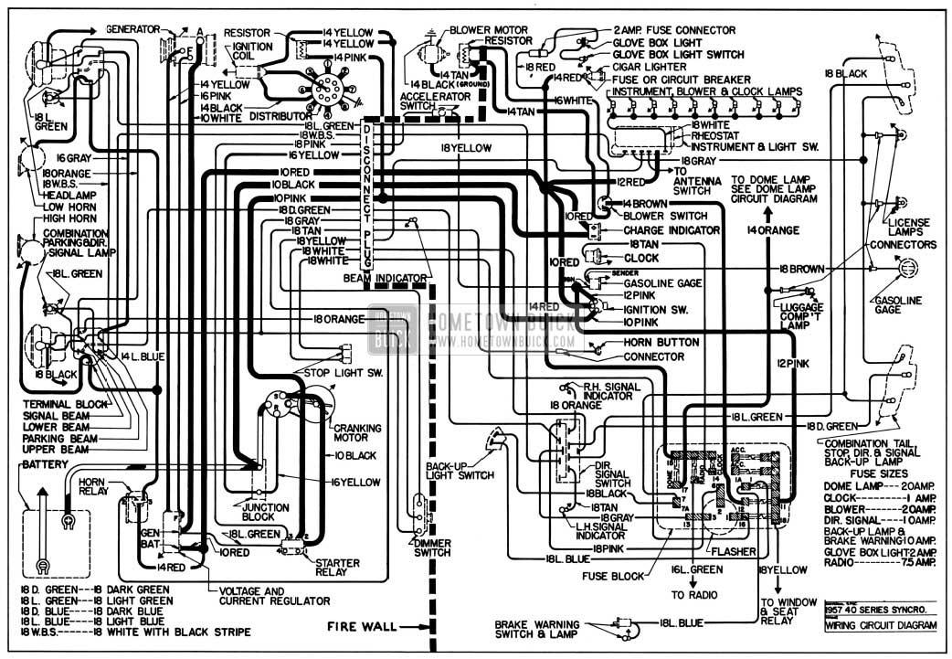 1957 buick wiring diagrams - hometown buick - 75 buick lesabre fuse diagram