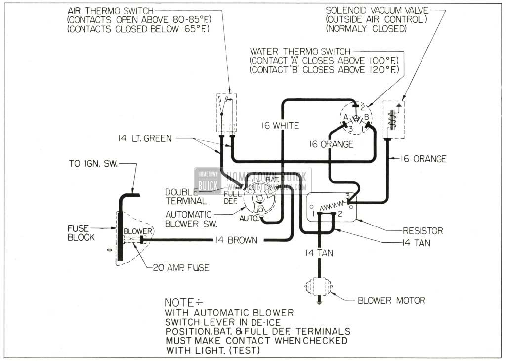 Blower Fan Wiring Diagram For Chevy 1959 Buick Heater And Air Conditioner Hometown Buick