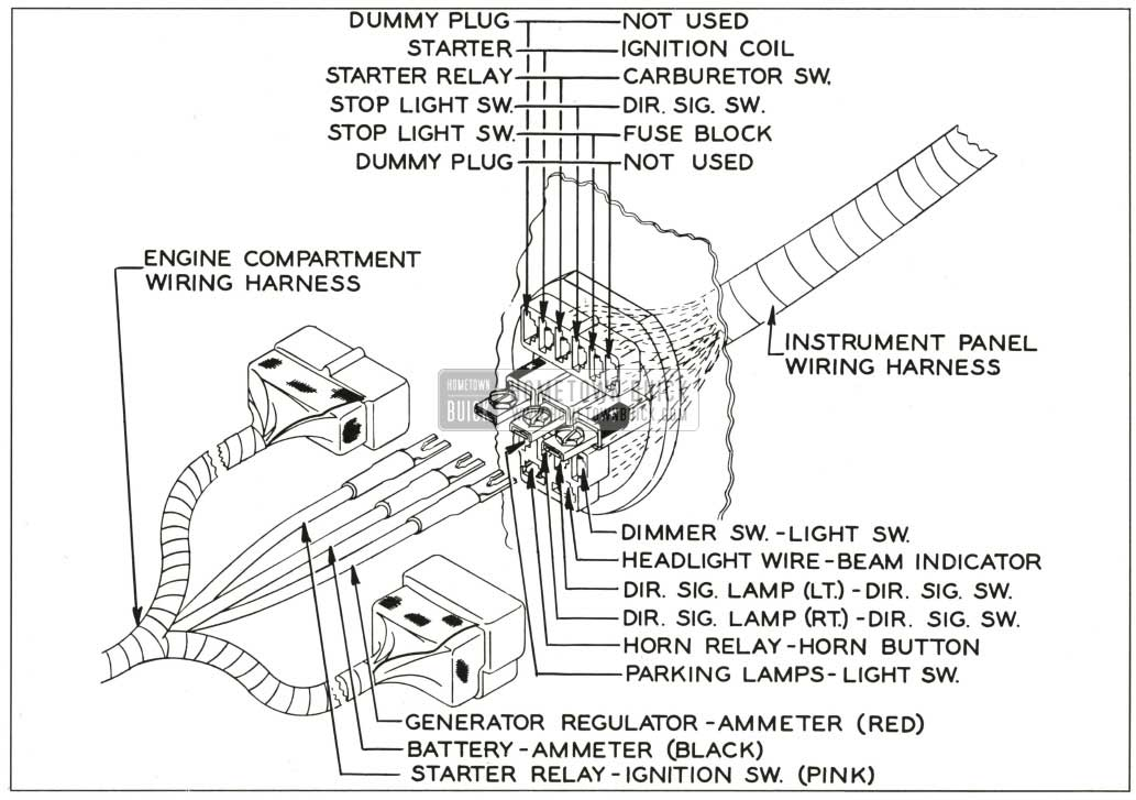1959 Buick Engine Compartment to Instrument Panel Wiring